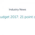 Spring Budget 2017: 21 point overview